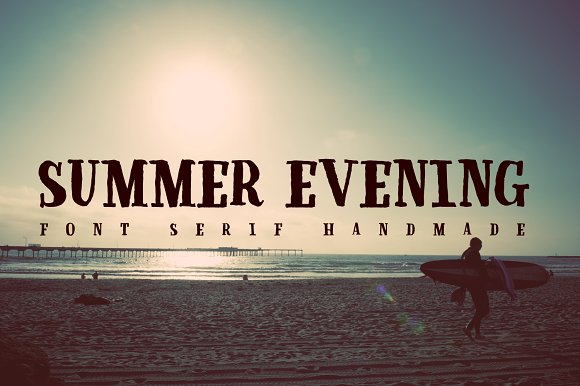 Summer Evening Font Serif