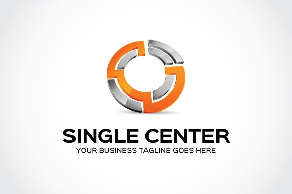 Single Center Logo Template in Logo Templates