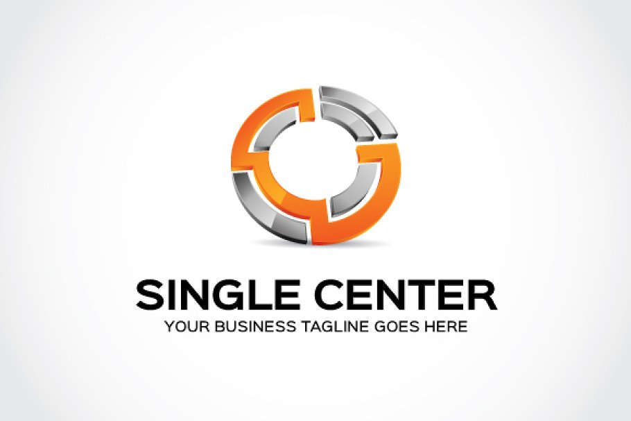 Single Center Logo Template in Logo Templates - product preview 8