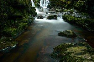 Waterfall at Sgwd Isaf Clun-Gwyn