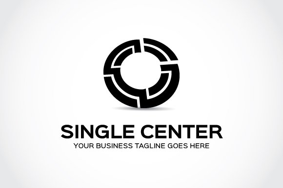 Single Center Logo Template in Logo Templates - product preview 3