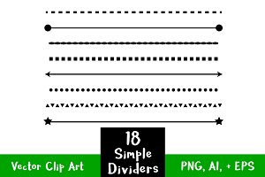 18 Simple Shape Line Dividers