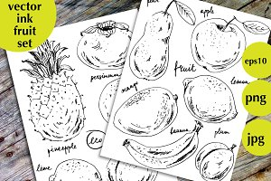 Ink fruit set