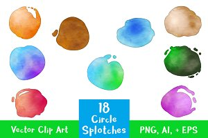 18 Circle Paint Splotches