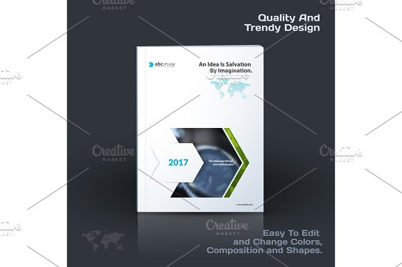 Annual Report Business Abstract Vector Template Brochure Desig