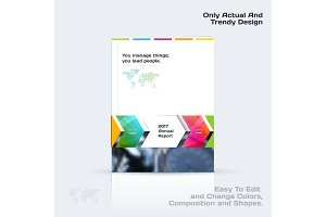 Annual report, business abstract vector template. Brochure desig