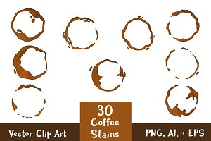 30 Coffee Stains / Coffee Rings
