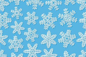 Seamless backgrounds with snowflakes