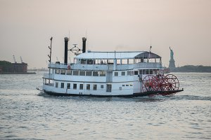 Old vintage cruise tourist ship