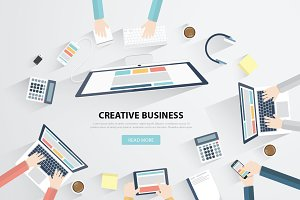 Creative Business Meeting Vector