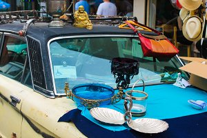 Vintage Objects in a Car