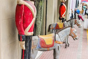 Horses Figures in Wood