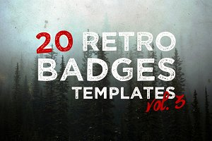 [vol. 3] 20 Retro Badges Templates