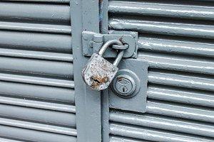 Padlock Vintage Door Detail