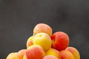 Freshly picked apricots