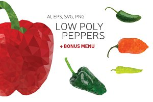 Low Poly Peppers