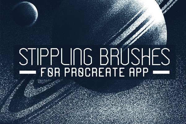 Stippling Procreate Brushes