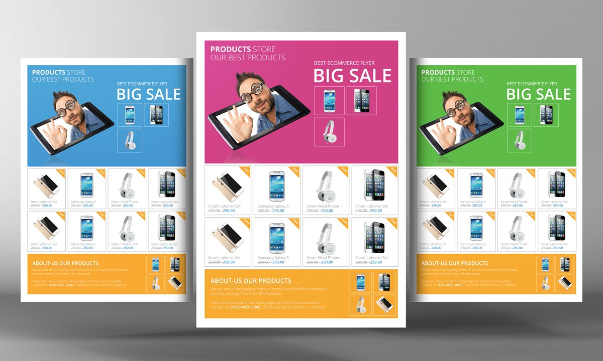 Products promotion flyer template flyer templates for Free product brochure template