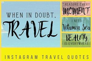 Instagram Travel Quotes Bundle