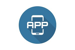 Mobile Application Icon. Flat Design.
