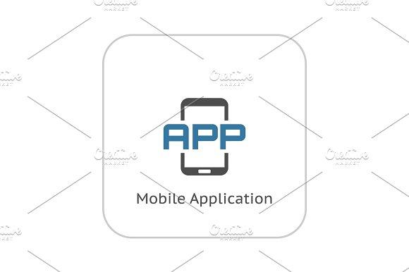 Mobile Application Icon Flat Design