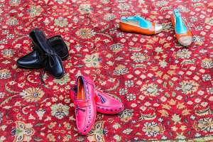 Vintage Shoes in a Carpet
