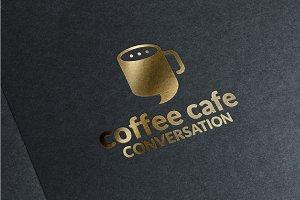 Coffee Cafe Conversation Logo