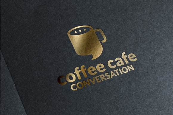 Coffee Cafe Conversation Logo
