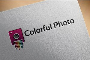 Colorful Photo Logo designs template