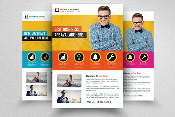 Business Solutions Consultant Flyer in Flyer Templates
