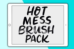 Hot Mess Procreate brush pack