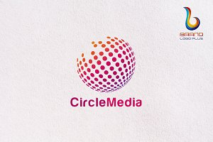 Circle Pixel Media Logo Templates
