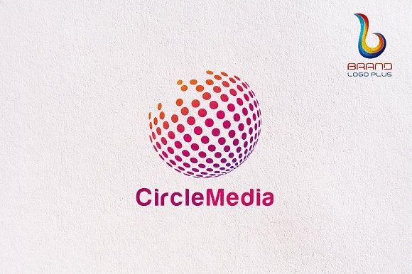 circle pixel media logo templates logo templates creative market