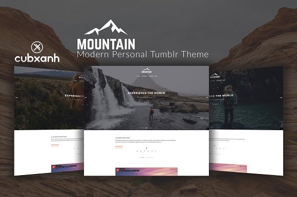 Mountain Personal Tumblr Theme
