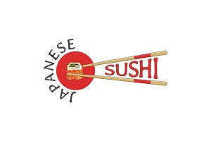 Japanese sushi bar logo