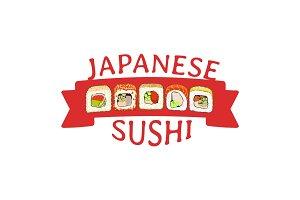 Logo japanese sushi rolls