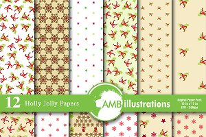 Christmas Digital Papers AMB-585