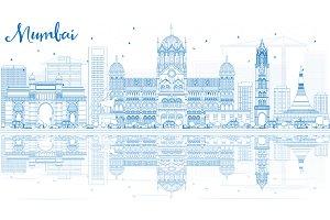 Outline Mumbai Skyline