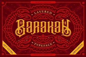 Barakah Layered Typeface + Extras