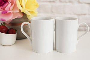 Two Mugs Mock Up