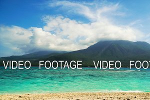 Beautiful beach on tropical island.Camiguin, Philippines. Timelaps