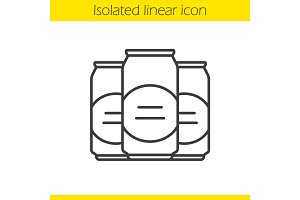 Beer cans linear icon