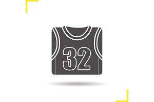 Basketball player's shirt glyph icon