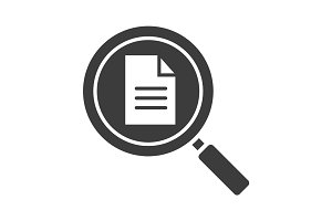 Document search glyph icon