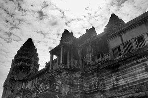 Angkor Wat Cambodia (B&W)