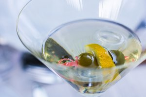 Glass of Martini drink