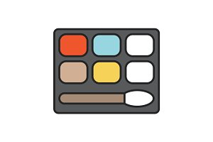 Eye shadows color icon