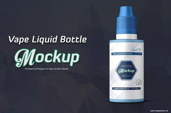 Download Vape Liquid Bottle Mockup