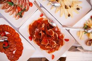 Buffet appetizers gourmet salam