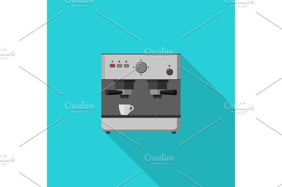 Coffee Maker Flat Illustration